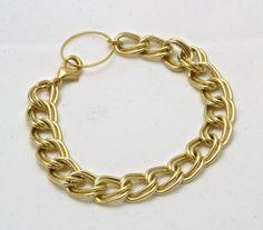 chunky gold bracelet / gold chain bracelet / by SharonTasker, $32.00