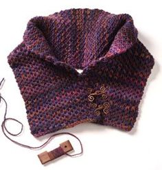 Free Pattern! The Button-Up Neck Warmer - Knitting Daily