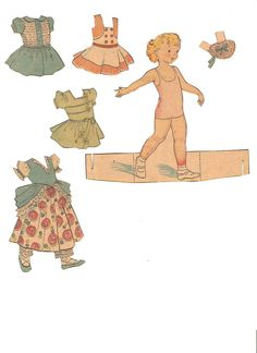 Newspaper paper dolls I think this from Paper Playhouse