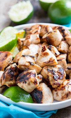 Key West Chicken Bites marinated in honey, soy sauce, garlic, and lime juice. Grill up fast and flavorful!