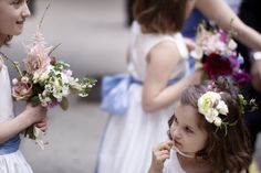 Take a look at these pretty bouquets (and those adorable kids)