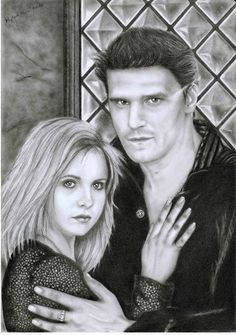 I miei disegni / My drawings: Buffy e Angel (2015)