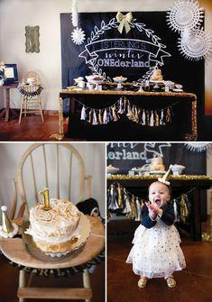 Winter Wonderland First Birthday #firstbirthday #party #partyideas