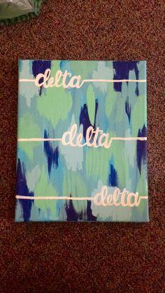 Tri delta sorority canvas