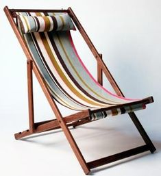 Currently coveting: Gallant & Jones deck chairs, featuring handmade North American black walnut frames with covers available in an array of colorf Garden Furniture, Outdoor Furniture, Outdoor Chairs, Outdoor Decor, Outdoor Fabric, Beach Chairs, Lounge Chairs, Room Chairs, Outdoor Living