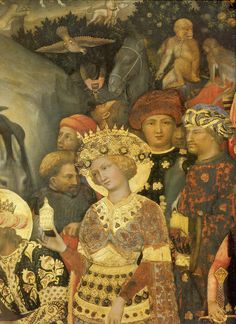 Adoration of the Magi (Detail) 1423 - by Gentile da Fabriano