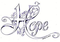 Hope tattoo @Aerika West  Breast cancer awareness idea for you?