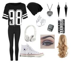"""""""Casual but trying"""" by smkitchens ❤ liked on Polyvore featuring Converse, Oasis, CellPowerCases and Beats by Dr. Dre"""