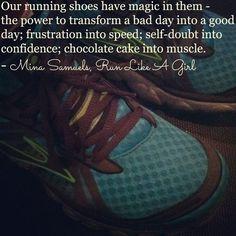 Running has magic powers. Lol! I like the chocolate cake part...