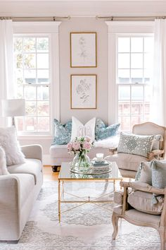Transitional French glam contemporary formal living - French glam living room, transitional home decor, botanical prints gold frames, affordable living r - Glam Living Room, Formal Living Rooms, Home And Living, Living Room Decor Gold, Coffee Table Decor Living Room, French Living Rooms, Cozy Living, Living Room Chairs, Small Living