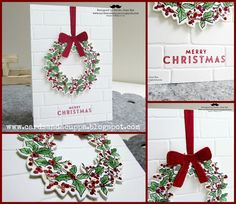 Sarah-Jane Rae cardsandacuppa: Stampin' Up! UK Order Online 24/7: 7 Days of All Day Christmas Class Cards. Day 2: Peaceful Wreath - with lots of Top Tips!