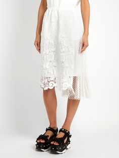 Click here to buy No. 21 Macramé-lace draped-panel skirt at MATCHESFASHION.COM