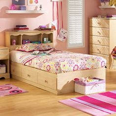 The Lily Rose Mates Bookcase Bed Collection gives you the storage you need and the style she loves. Three spacious lower drawers offer you room to store all of your little one's goods from toys and books to extra clothes. In a pretty pine finish this sturdy bed is constructed of particle board for maximum structural integrity and features an easy-to-clean laminate finish. This bed ships ready to assemble for your convenience and it's covered by a