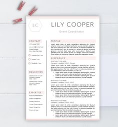 Minimalist Resume Template Cv Template For Word Two By Aaaresume