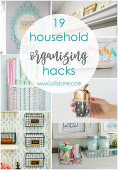 Household Organizing Hacks Check out these clever 19 Household Organizing Hacks! Great ways to save time and easy ways to organize!Check out these clever 19 Household Organizing Hacks! Great ways to save time and easy ways to organize! Organization Station, Organisation Hacks, Household Organization, Storage Organization, Storage Ideas, Organizing Your Home, Organizing Ideas, Organising, Do It Yourself Home