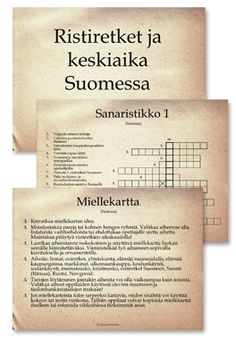 Keskiaika Medieval Crafts, Middle Ages, Ancient History, Special Education, Teacher Stuff, Finland, Teaching, How To Plan, School
