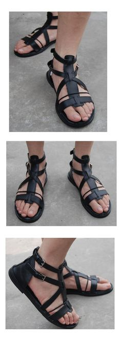 british male high help buckle sandals casual beach shoes rome - www.9channel.com - TaoBaoProduct