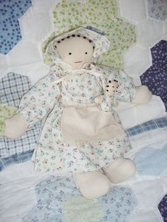 Vintage Doll with Baby Handmade Primitive Cloth Country. $14.95, via Etsy.