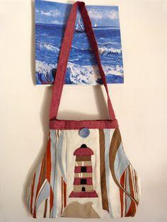 bag with lighthouse Http//:claudinacreations.wordpress.com