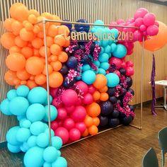 Balloon Backdrop, Balloon Wall, Balloon Garland, Balloon Decorations, Birthday Party Decorations, Birthday Parties, Balloon Columns, Bubblegum Balloons, Rainbow Balloons