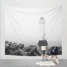 Leuchtturm-Wandbehang Leuchtturm Wandkunst von SophieMakesFabrics