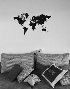 Travel photos sitting room sofa