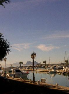 gibraltar and africa seen from Sotogrande port in Spain