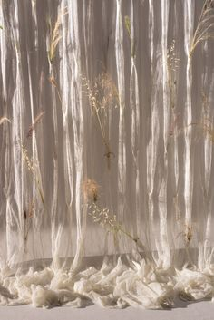Draped flower curtain · by Umé Studio Deco Floral, Of Wallpaper, Installation Art, Aesthetic Pictures, Aesthetic Wallpapers, Backdrops, Beautiful, Fashion Art, Trendy Fashion