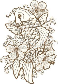 Japanese Tattoos 307933693271419119 - Coloriage poisson carpe koi coloriage Source by egoraszewska Japanese Koi Fish Tattoo, Koi Fish Drawing, Fish Drawings, Tattoo Drawings, Flower Drawings, Koi Tattoo Design, Tattoo Designs, Pez Koi Tattoo, Coy Fish Tattoos
