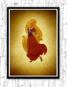 Disney Rapunzel Minimalist Movie Poster by moonposter on Etsy