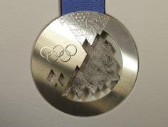 This is a silver medal for winning a sport at the 2014 Sochi Olympic Winter Games