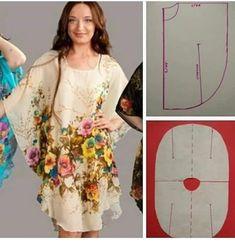 - Source by eyma_b - Fashion Sewing, Diy Fashion, Fashion Dresses, Moda Fashion, Dress Sewing Patterns, Clothing Patterns, Bag Patterns, Instagram Mode, Costura Fashion