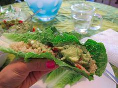 Quinoa Avocado Tacos on http://foodbabe.com