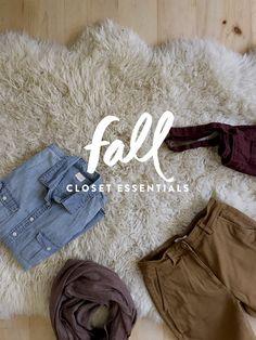 A Seasonal Closet: Fall Wardrobe Essentials http://thefreshexchange.com/seasonal-closet-fall-wardrobe-essentials/