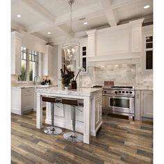 Kitchen Flooring, Kitchen Furniture, Kitchen Decor, Kitchen Ideas, Tile Flooring, Kitchen Pictures, Kitchen Backsplash, Refacing Kitchen Cabinets, White Kitchen Cabinets