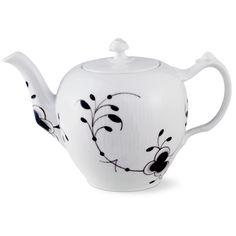 Royal Copenhagen Black Fluted Mega Tea pot 100 cl