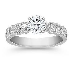 Vintage Diamond Engagement Ring from Shane Co. Jewelers. This is the most beautiful band I have ever seen! This will be mine.