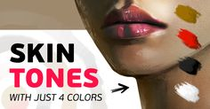 Digital Painting Tutorial: How to paint ANY skin tone with a limited palette of just 4 colors.