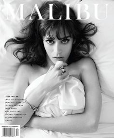 Lizzy Caplan Pose on Malibu Magazine November December Magazine 2015 cover shoot