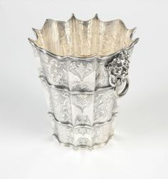 An Italian sterling silver wine cooler