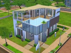 The Sims Resource: Contemporary Fitness and Spa by Chromie • Sims 4 Downloads