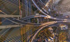Essas 13 fotos aéreas mostram São Paulo como você nunca viu > 3. Ponte Octávio Frias de Oliveira