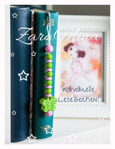 Metall - Lesezeichen mit Namen + Schmetterling - ein Designerstück von ZaraMina bei DaWanda