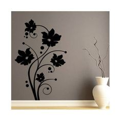 "Style and Apply Fresh Tendril Wall Decal Size: 59"" H x 38"" W, Color: Silver"
