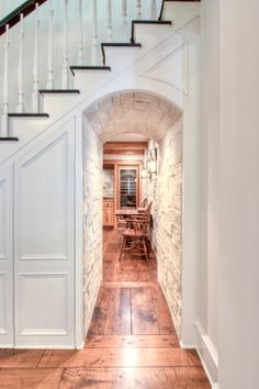 Love the stone hallway|Wine cellar|traditional