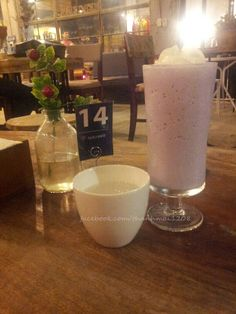 Blueberry Ice Blended at Laduree Coffee shop Le Thanh Tong, Hanoi, Vietnam