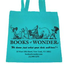 Books of Wonder in NYC-the bag is cute, but the store is AMAZING!