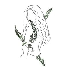 30 trendy flowers girl drawing aesthetic - Famous Last Words Kunst Inspo, Art Inspo, Aesthetic Drawing, Aesthetic Art, Aesthetic Plants, White Aesthetic, Plant Drawing, Painting & Drawing, Drawing Flowers