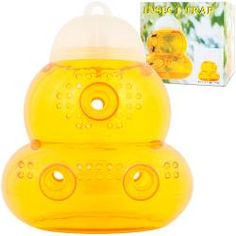 Protect your family and friends from aggravating bees and wasps safely and easily with this Re-Usable Hanging Wasp and Bee Trap. Simply unscrew the top of the trap, add one cup of fruit juice and you are ready to go. Wasp Traps, Bug Trap, Bees And Wasps, Outside Patio, Flying Insects, Yard Care, Insect Bites, Humming Bird Feeders, Pest Control
