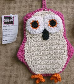 it's a crocheted owl potholder dude! it's awesomeness needs no explanation!